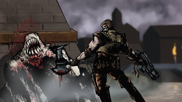 Quake Ranger vs Shambler