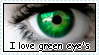 I love green eye's stamp by RogueLottie