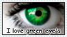 I love green eye's stamp by RogueLottie