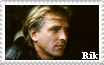 Rik Mayall Stamp by RogueLottie