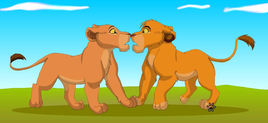 Simba And Nala Cubs Kiss   www.imgkid.com - The Image Kid ...