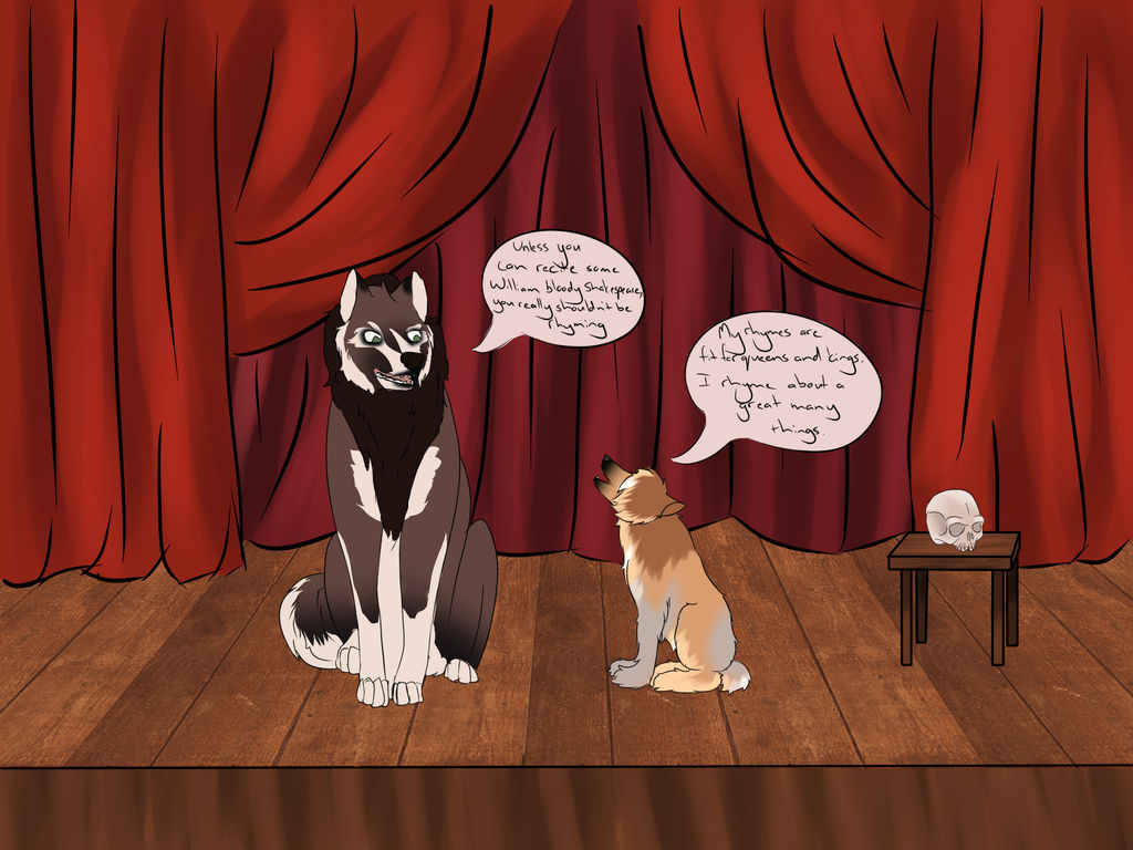 Shakespeare and Bragi by little-mi