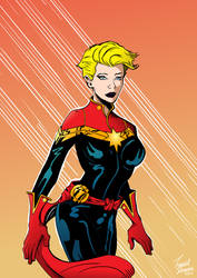 Captain Marvel Colored by leaveit2deaver