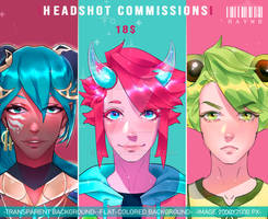 Headshot Commissions [OPEN 1/3] by RayW0