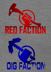 Dig Faction Logo _Minecraft_ by pixel-fox