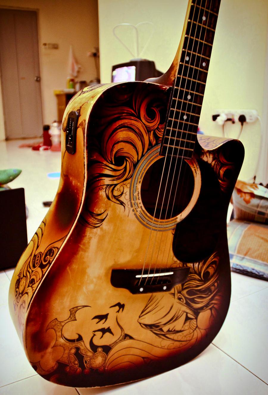 Guitar Designs Art : Guitar sharpie art by zeonflux on deviantart
