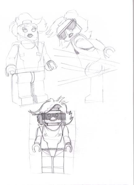 Lego Gaga starter sketches