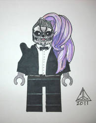 Lego Gaga Skullface w Tux by abart01