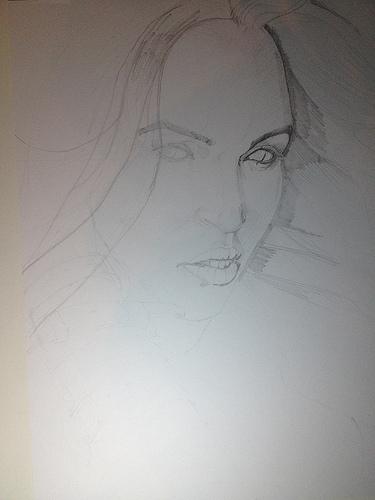 WIP - Megan Fox (18x24) by abart01