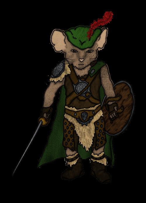 Qwynn, Mouseling Bard by SplinterFleetAlta