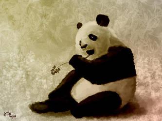 Digital painting: Panda by sodeikat