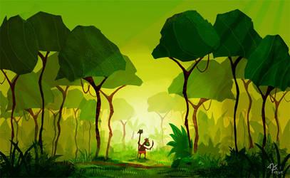 Digital painting: jungle by sodeikat