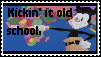 Old School stamp by SweetieTheSquirrel