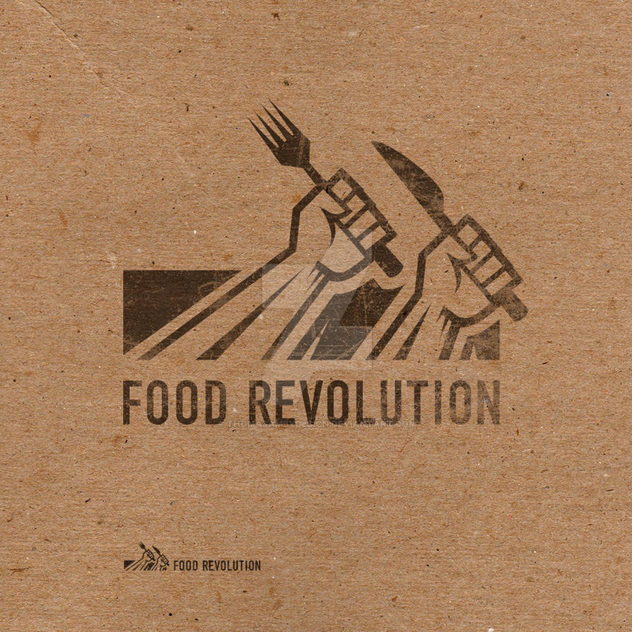 Food Revolution Logo by ThomasAmbyDesign