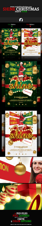 Shine Christmas Party Flyer