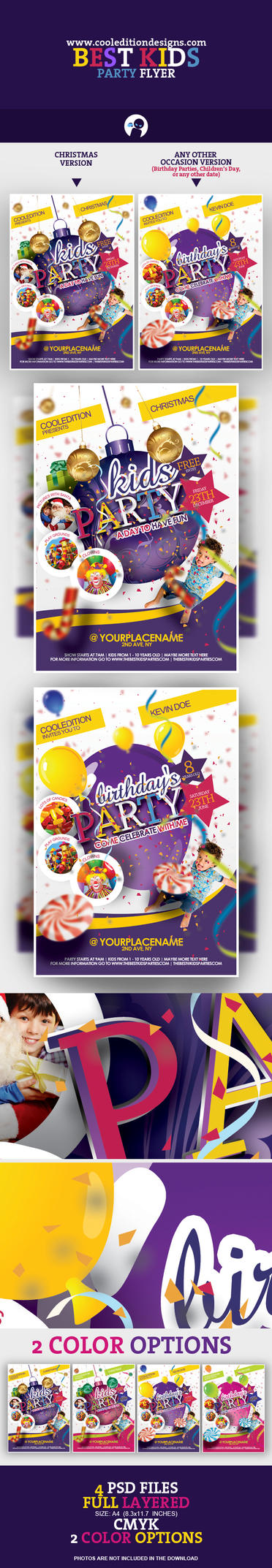 Best Kids Party Flyer Template by cooledition