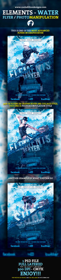 Elements - Water Flyer / Photomanipulation