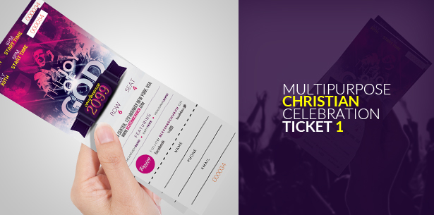 Multipurpose Christian Celebration Ticket 2