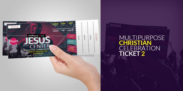 Multipurpose Christian Celebration Ticket 1
