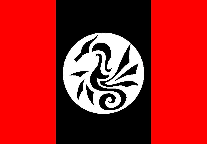 black dragon flag