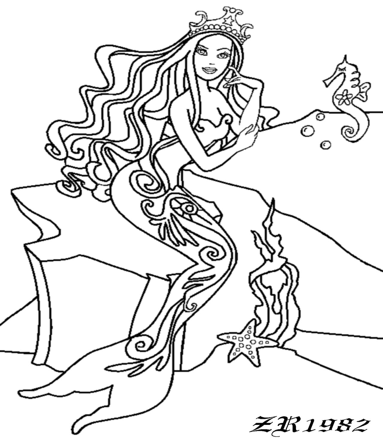 The mermaid barbie lineart by fluttershy1982 on deviantart for Barbie mermaid coloring pages