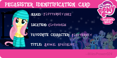 Pegasister ID Card Fluttershy1982 by Fluttershy1982