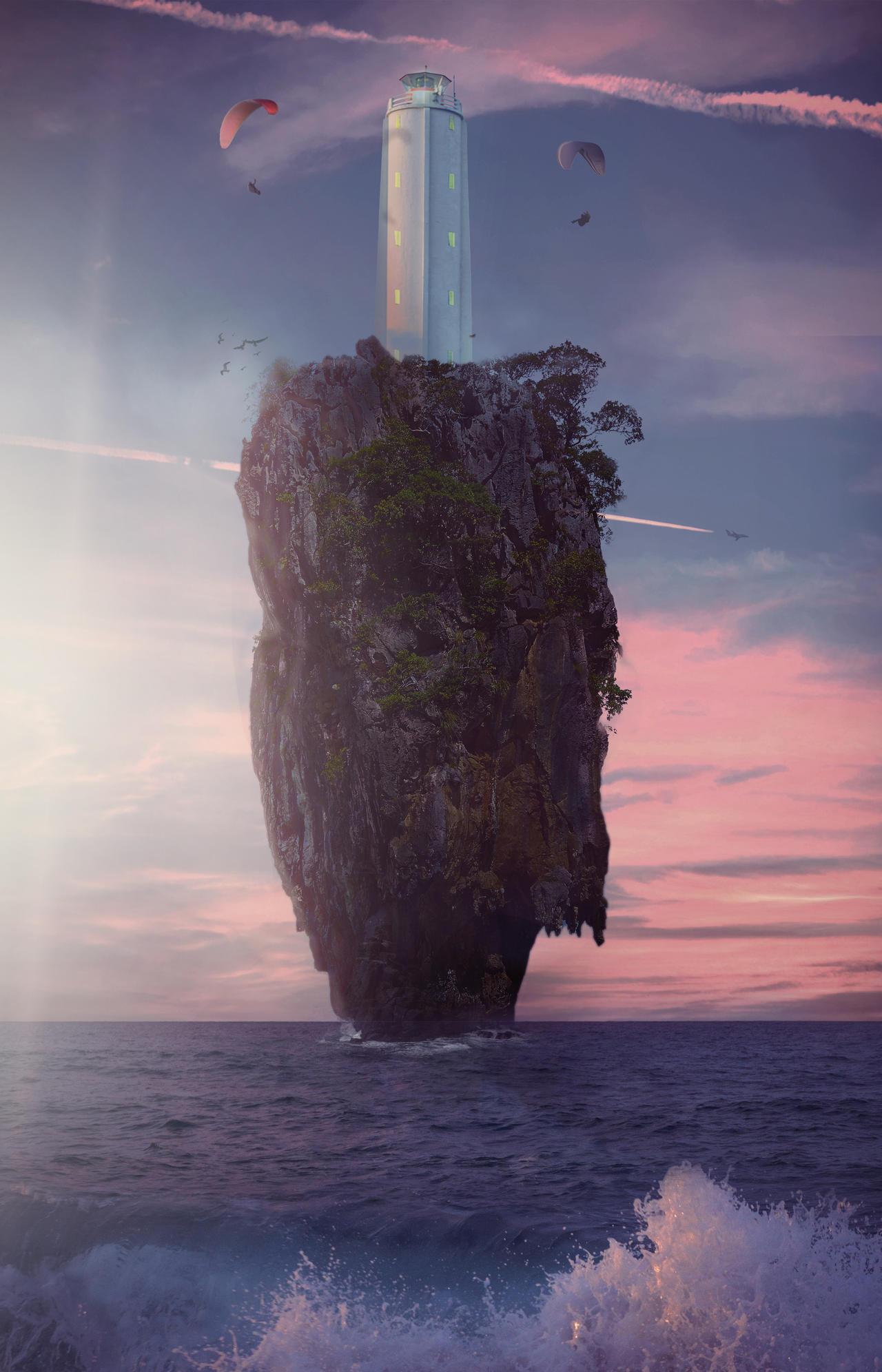 Amidst the lighthouse