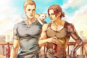 Steve / Bucky by LiuYuChi