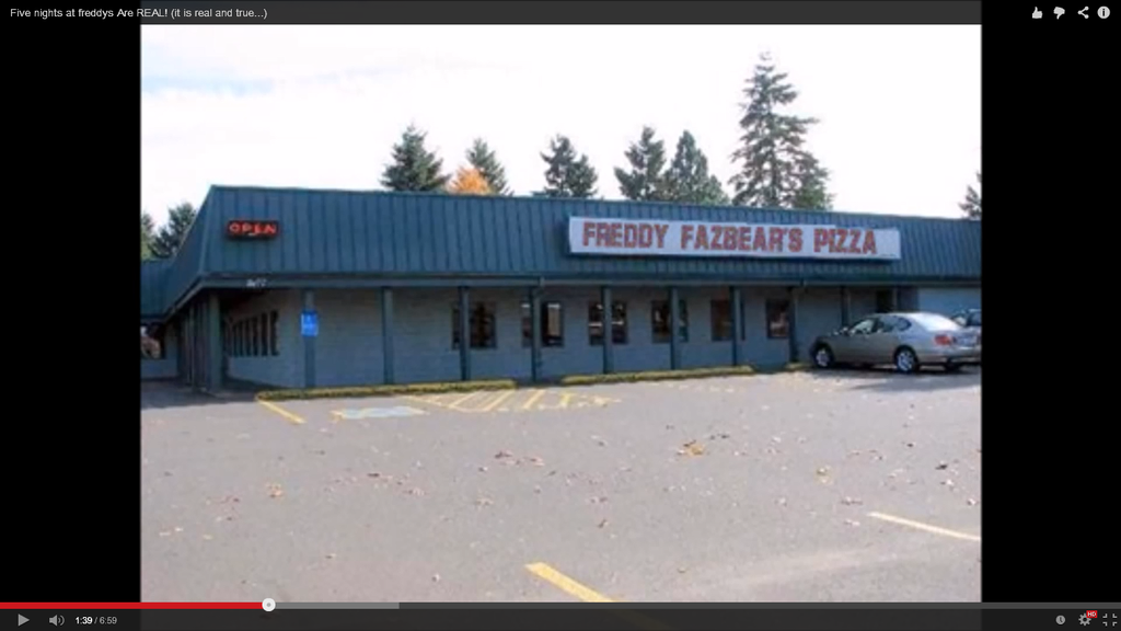 Freddy fazbear s pizza is a real place by bigsonicfangirl on