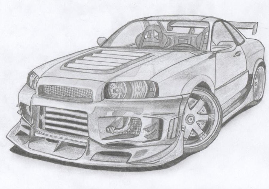 nissan gtr nismo coloring pages - photo#20