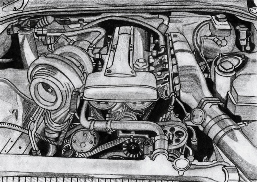 toyota supra engine drawing  toyota  free engine image for