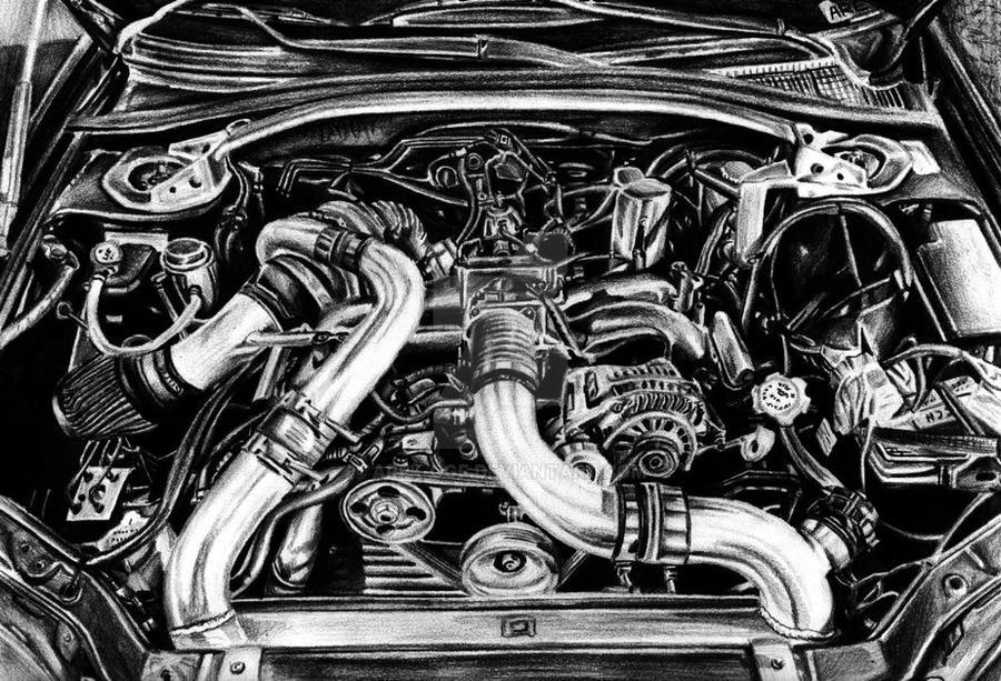 Subaru Impreza WRX STI Engine Bay by Arek-OGF on DeviantArt