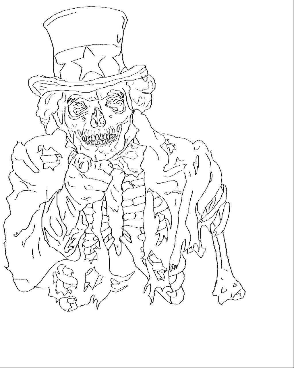 Sketchesofsam Sssh Critical Role Is: Zombie Uncle Sam Sketch By ColdGlasses On DeviantArt