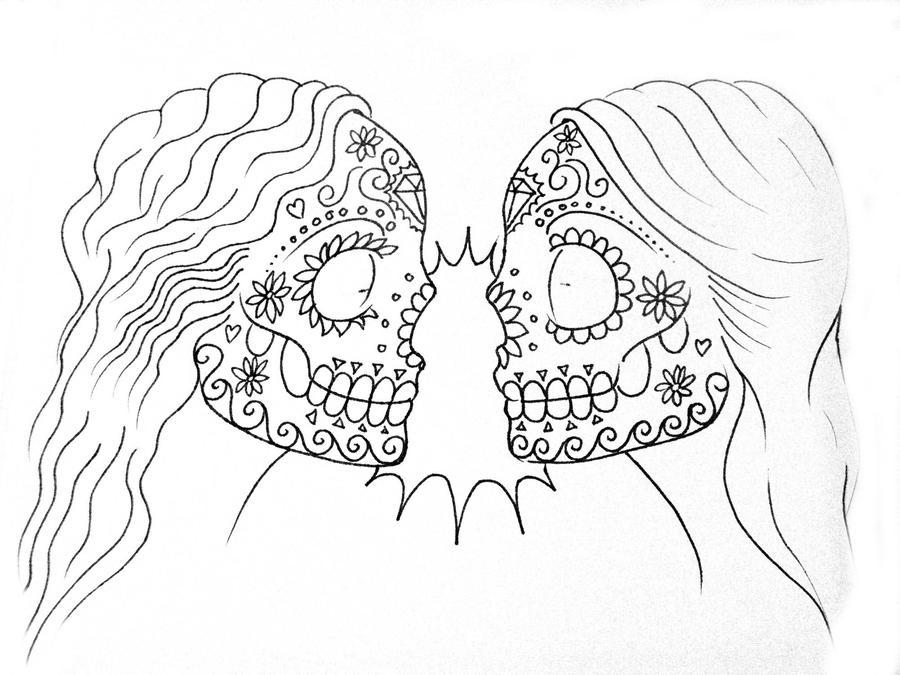 lesbian skulls by rachelrocks