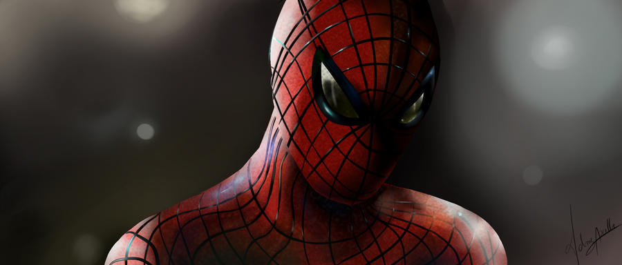 Mon premier digital painting Fan_art___the_amazing_spiderman_by_marion_elric_anarchy-d6gpv4j