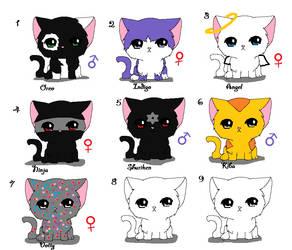 Cat Adoptables by elphierocks953