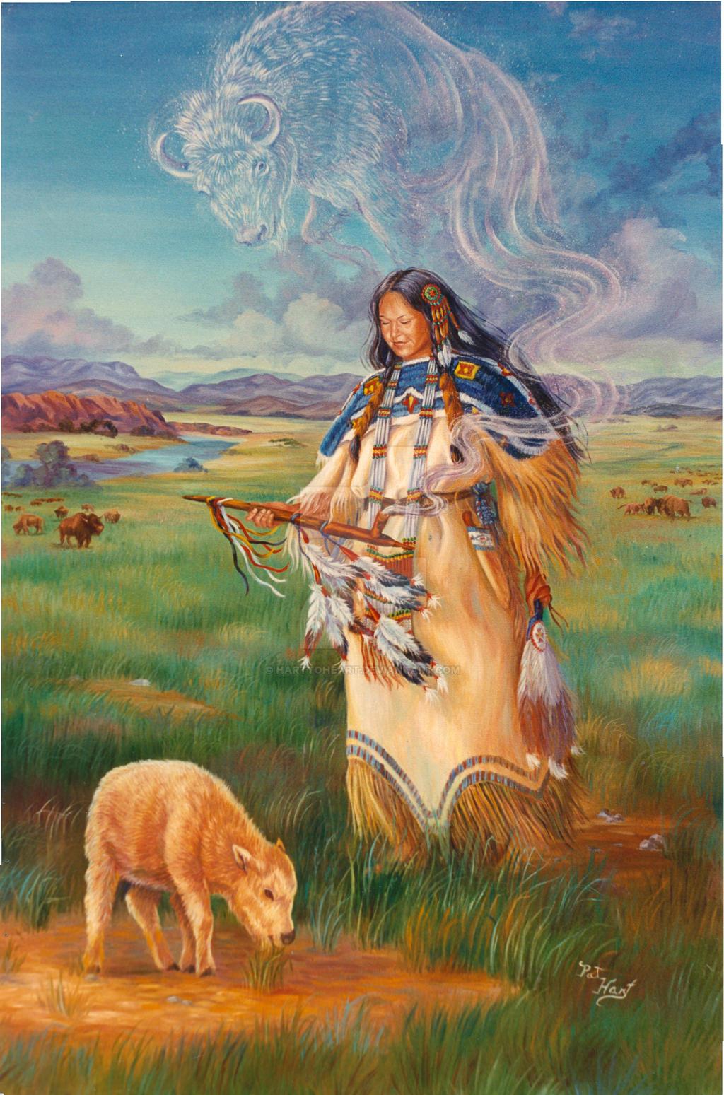 Black buffalo woman