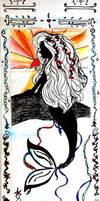 Mermaid bookmark side one