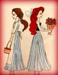 Ariel and Belle by avadaxxxkedavra