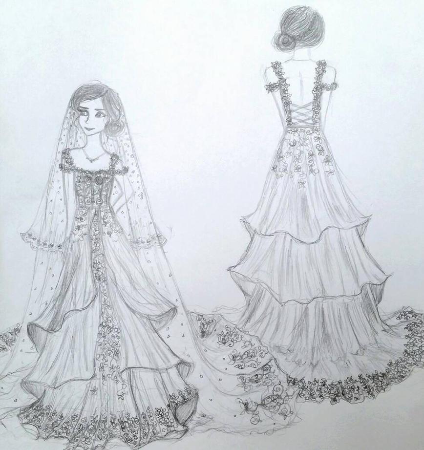 dream wedding dress by avadaxxxkedavra