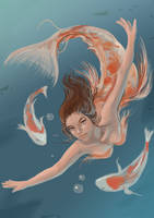 Koi Princess by Galsein