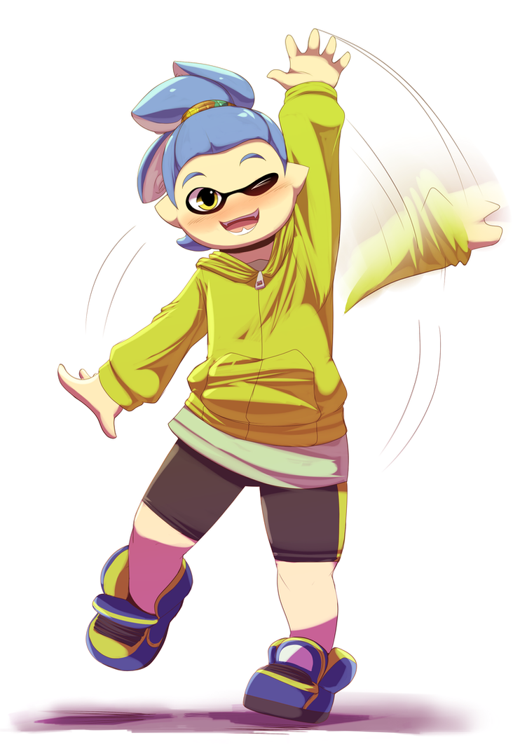 Both a Squid and a Kid by Trinity-Fate