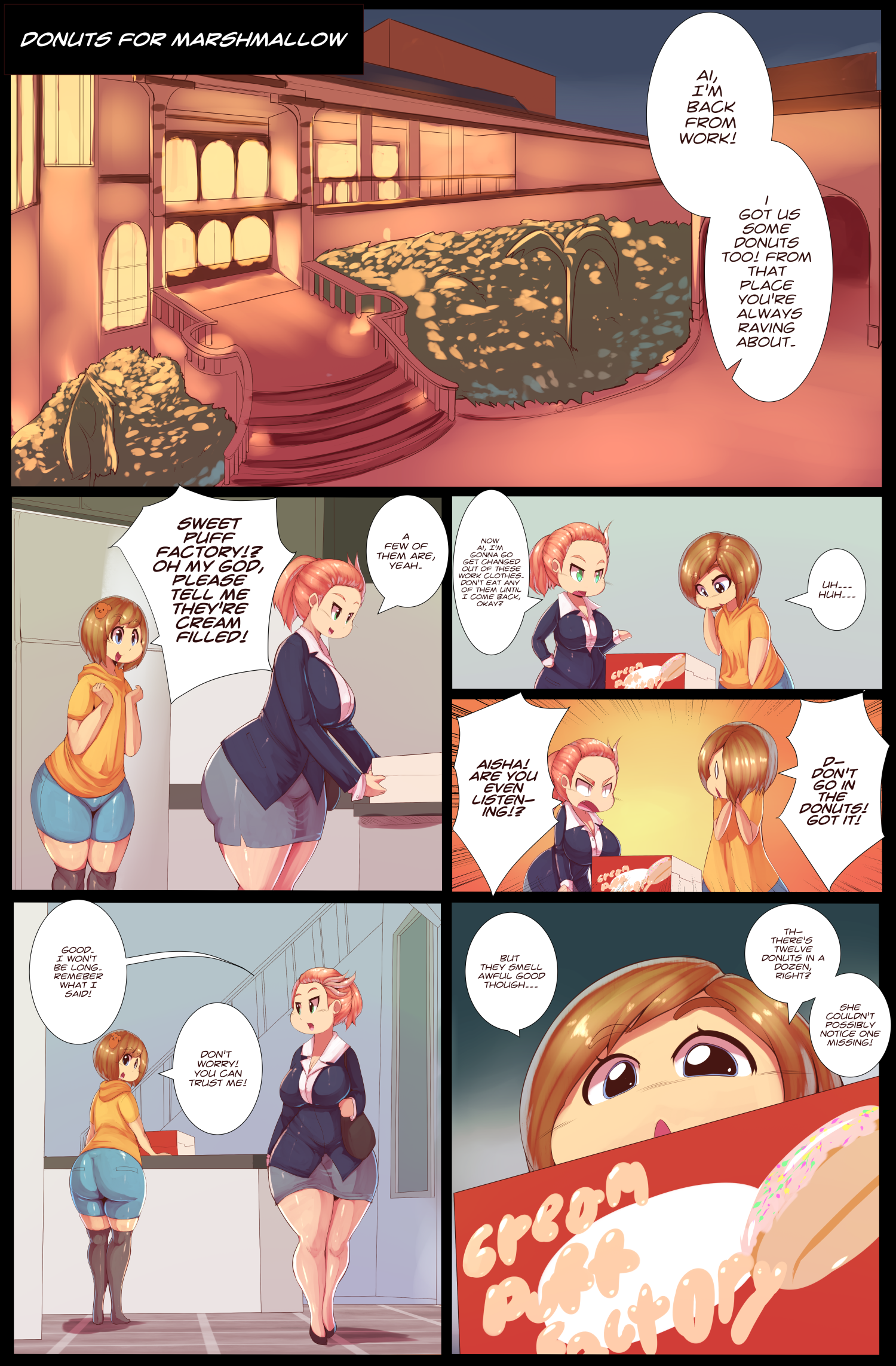 Donuts for a Marshmallow page 1 by Trinity-Fate