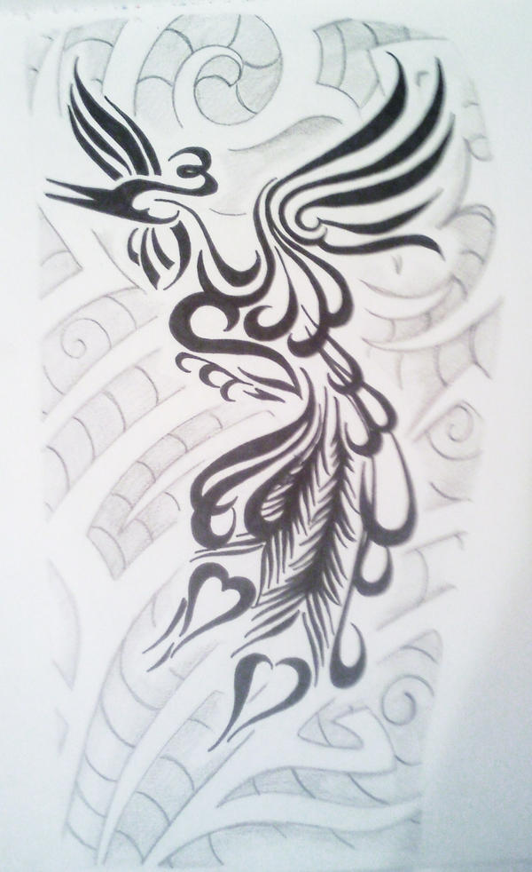 Tribal Peacock Tattoo Design Picture 2