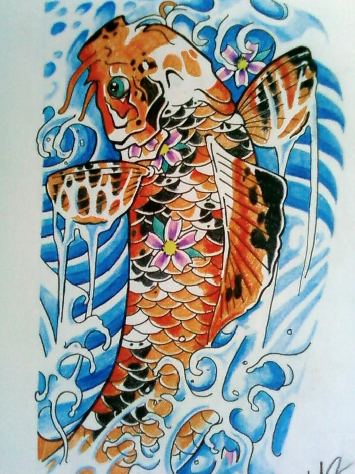 Koi 1 by phantomphreaq on deviantart for Japanese koi fish names