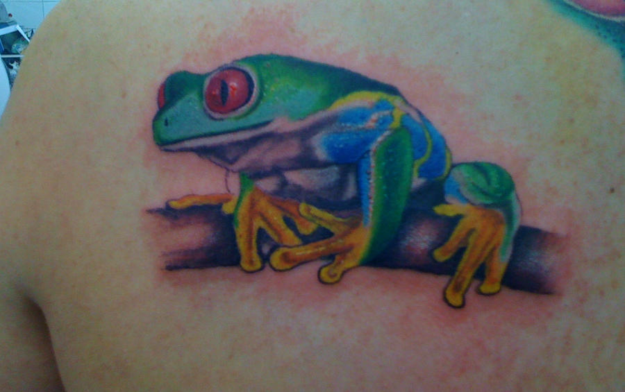 Tree Frog by phantomphreaq