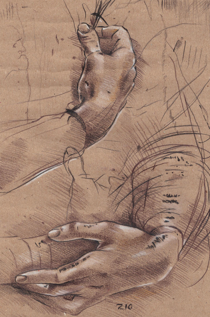 Study of hands painting images