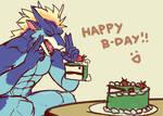 Dragon Levitating Cake | by huskeeburn21