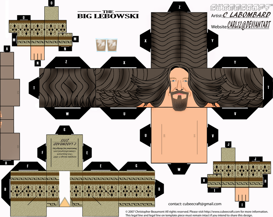 The Dude from the Big Lebowski by CARL12