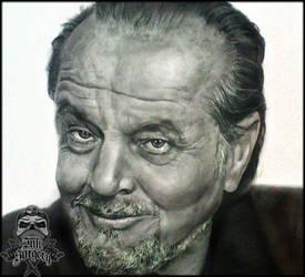 Jack Nicholson pencil portrait by inksurgeon